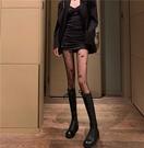 蕾絲襪 性感黑色連褲襪