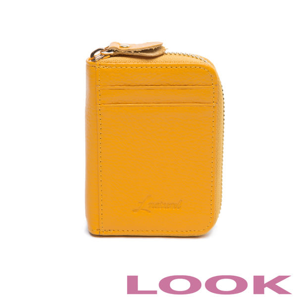 LOOK - 多隔層俏皮卡包-微笑黃