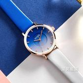 手錶女士簡約森木系皮質防水石英錶2018新品學生正韓時尚潮流女錶xw