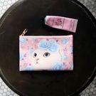 Jetoy , 甜蜜貓 卡片 護照 零錢包_Blue rose