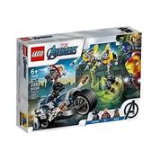 【南紡購物中心】【LEGO 樂高積木】超級英雄 Super Heroes 系列 - 復仇者摩托車襲擊76142