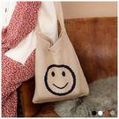 斜背包-暖暖微笑斜背針織手提袋-共4色-...