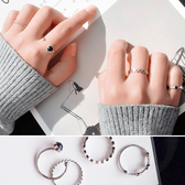 戒指 珠珠 造型 設計 潮 四件套 戒指【DD1612040】 icoca  04/20