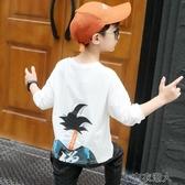 兒童長袖 男童長袖T恤秋裝新款春秋洋氣童裝兒童打底衫寬鬆潮童上衣棉T 遇見初晴