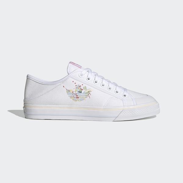 Adidas Collapsible Nizza Lo [GZ8394] 女鞋 運動 休閒 經典 愛迪達 白 粉紅