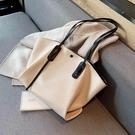 手提包 春夏軟面大包包女2020新款潮韓版百搭質感單肩包大容量時尚托特包