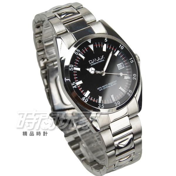 OMAX 簡約時尚流行錶 學生手錶 不銹鋼帶 中性錶 男錶 防水手錶 O4111黑