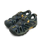 LIKA夢 GOOD YEAR 專業戶外踏青旅遊護趾排水運動涼鞋 藍灰黑 73656 男