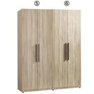 【森可家居】凱文4.6尺組合衣櫃 7JF...