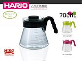 日本HARIO 好握耐熱玻璃壺黑色(700ml)-VCS-02《Midohouse》