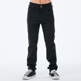BigTrain 吸排鬆緊腰黑色刷毛小直筒褲-男-黑-BM727588(領劵再折)