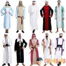 萬聖節服裝阿拉伯服裝男女cos化妝舞會中東迪拜衣長袍衣服【淘嘟嘟】