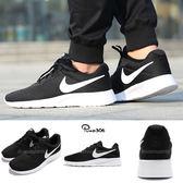 Nike 休閒鞋 Tanjun 復古 黑底白勾 透氣網布 黑 白 基本款 黑白 男鞋 女鞋【PUMP306】 812654-011
