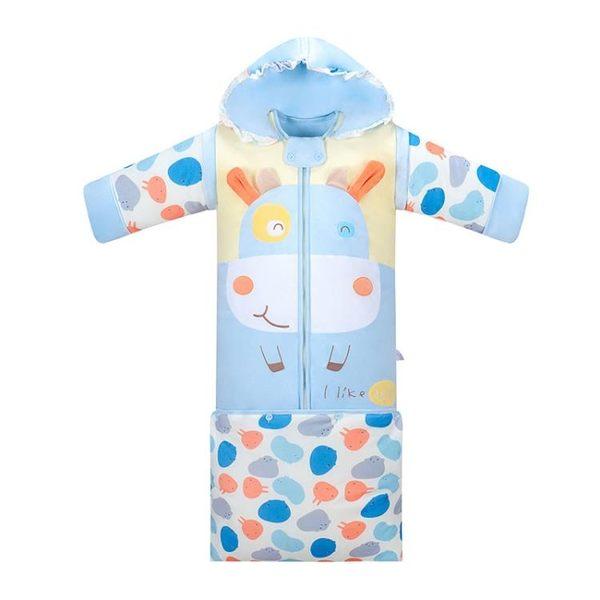 嬰兒睡袋加厚可拆卸多功能兒童防踢被寶寶保暖新生兒用品【快速出貨八折下殺】