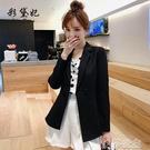 外套 彩黛妃春夏新款韓版女裝修身商務休閒西服純色顯瘦小西裝外套