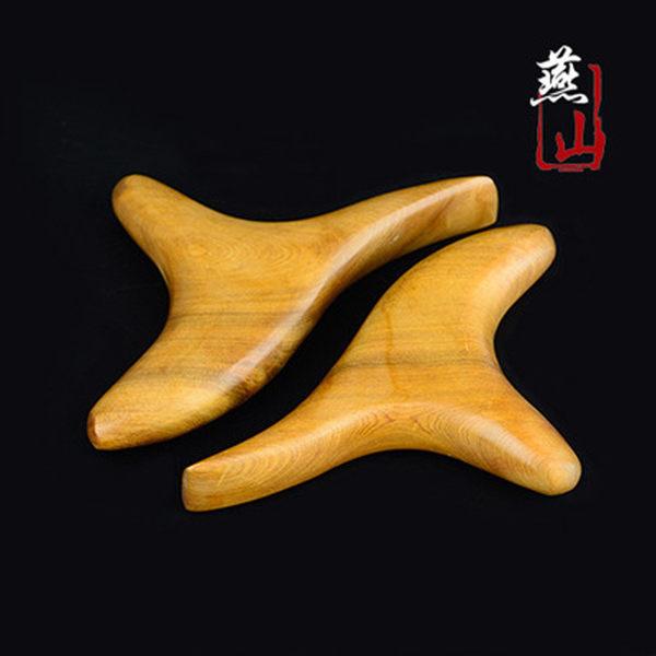 三角雀按摩器 實木製 保健鳥 三叉刮痧片 刮痧板 穴道按摩 孝親【YES 美妝】