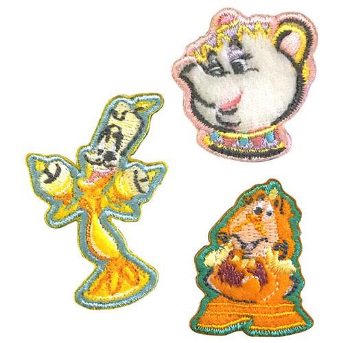 《Small Planet》迪士尼公主徽章刺繡熨燙貼布(美女與野獸-配角集合)_DP24756