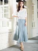 單一優惠價[H2O]棉質刺繡蕾絲可當外套六分袖上衣(附吊帶背心) - 白/粉/淺藍色 #0685001