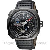 SEVENFRIDAY V3 設計師工藝自動上鍊機械錶-黑/50mm V3