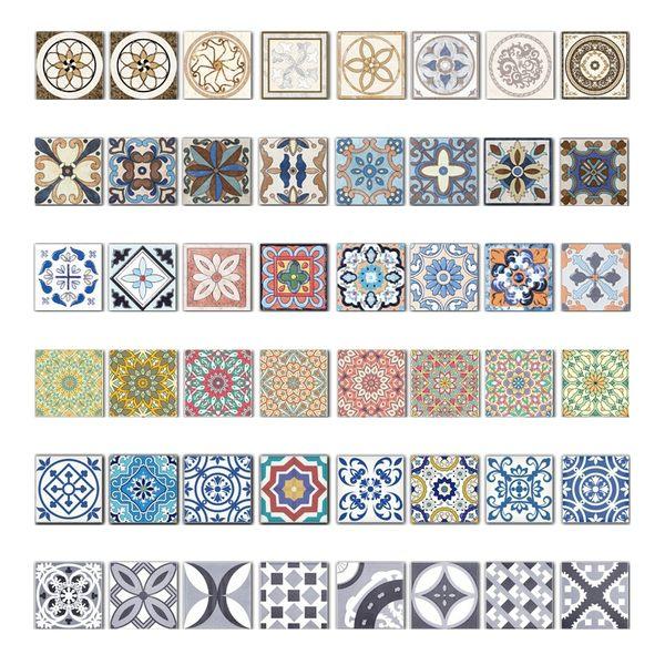 約翰家庭百貨》【TA201】歐風藝術花磚貼 以色列牆面裝飾貼紙 壁貼牆貼 6款可選