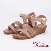 kadia.舒適牛皮涼鞋(9151-30杏色)