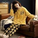 珊瑚絨睡衣女秋冬季加絨加厚保暖套裝法蘭絨冬款可外穿家居服冬天 小山好物