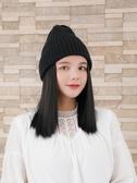假髮帽帽子假發一體女仿真 時尚短發冬天針織毛線帽秋冬款潮流短發冬季 玩趣3C