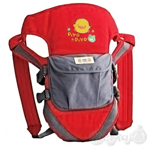 【奇買親子購物網】黃色小鴨三段式多功能揹巾袋(藍/紅)