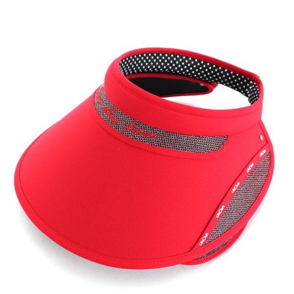 Blossom Gal 韓系運動風玩美防曬大遮陽帽(紅)
