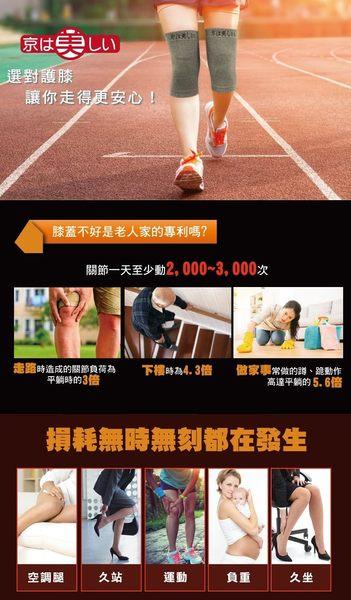 全新升級[鍺護膝] 京美長效支撐X型舒緩護膝-兩雙入超值組(雙腿x2雙)