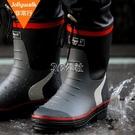 雨鞋男時尚膠鞋春夏男士雨靴水鞋男套鞋釣魚鞋中筒防水防滑水靴 color shop