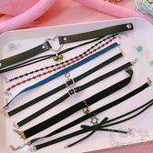 時尚創意日系原宿朋克蘿莉復古簡約配飾頸帶項鏈  hh213『美鞋公社』