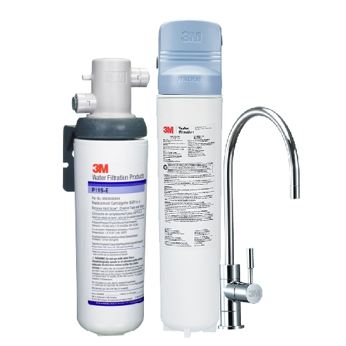 3M 強效型廚下生飲淨水系統/淨水器3US-MAX-S01H+搭配SGP115櫥下型軟水系統/淨水器─水達人