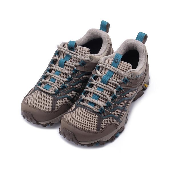 MERRELL MOAB FST 2 GORE-TEX 防水戶外鞋 淺棕/藍 ML65598 女鞋 登山│健行│郊山│越野│多功能
