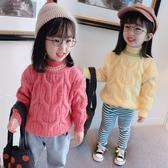秋冬2019新款女童高領毛衣女寶寶冬裝兒童加厚針織衫洋氣打底套頭