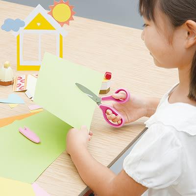 PLUS 普樂士 34-670 兒童30度弧線剪刀 藍 SC-145MF
