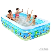 充氣泳池 諾澳嬰兒童充氣游泳池家庭超大型海洋球池加厚家用大號成人戲水池 ATF 聖誕免運