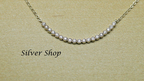 ╭☆ Silver shop ☆╯純銀 S925 套鍊 素銀 [ snn 001 ]