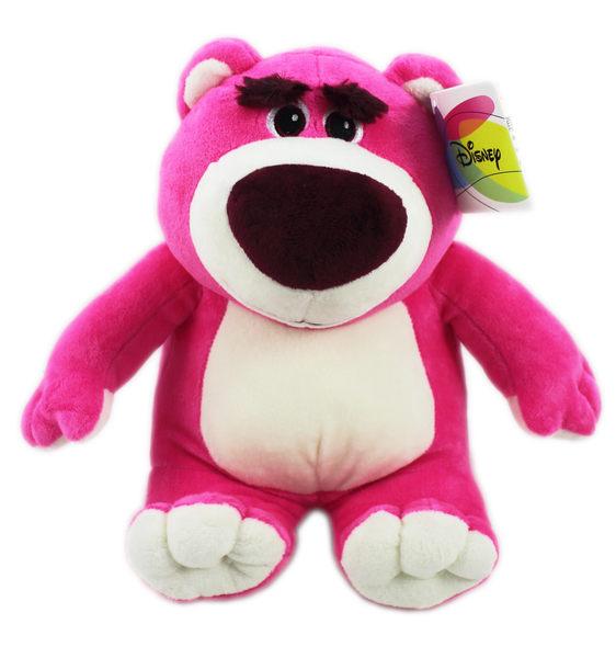 【卡漫城】 熊抱哥 玩偶 25cm 坐姿 粉 ㊣版 布偶 絨毛娃娃 Lotso 玩具總動員 Toy Story
