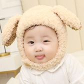 針織帽0-3歲寶寶嬰兒帽子秋冬護耳帽加厚嬰幼兒童加絨護臉可愛百搭帽子