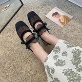 網紅ins潮半透明涼鞋女夏季新款時尚花邊波點包頭涼鞋皮帶扣 【全館免運】