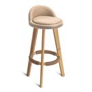 實木吧臺椅現代簡約高腳凳家用靠背椅吧凳椅奶茶店椅前臺椅子【快速出貨】