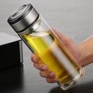 富光雙層玻璃杯男女水杯子家用玻璃水杯簡約便攜玻璃茶杯車載水杯