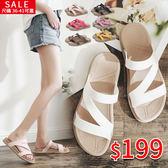 拖鞋.晴雨鞋兩穿Z型防水拖鞋 平底涼鞋 36-41號-7色可選 店慶降價