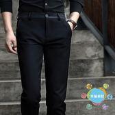 (中秋大放價)西褲褲子男夏季男士直筒商務休閒褲正韓潮流小腳西褲薄款九分褲男