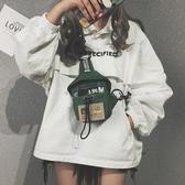 帆布小包包女潮韓版港風chic復古胸包側背斜挎蹦迪包  蘑菇街小屋