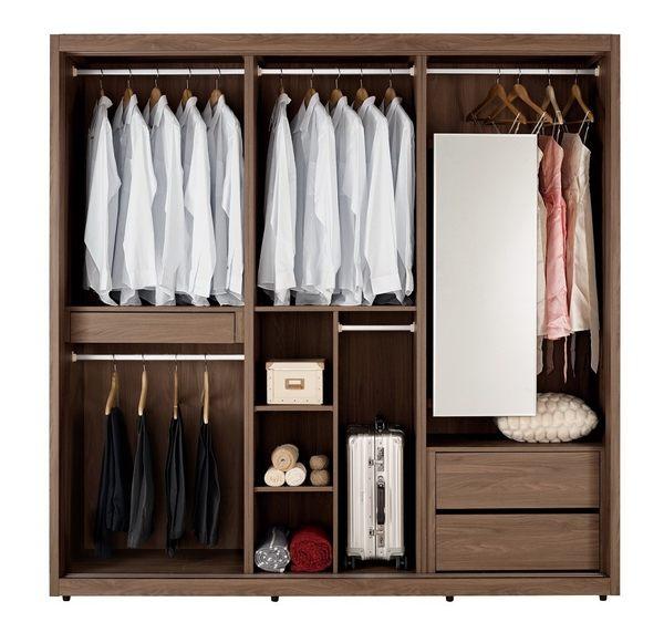 衣櫃 衣櫥 MK-042-13 約克8尺衣櫥 【大眾家居舘】