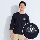 【101原創】台灣製.掰掰啾啾-Hi圓領寬版七分袖T恤上衣(男)-7604029