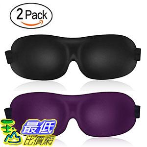 [107美國直購] 眼罩 3D Sleep Mask (leeken New Design 2 Pack) Eye Mask for Sleeping - Contoured Eyemask