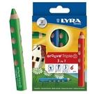 【德國 LYRA】3831060  Groove(3合1)胖胖三角洞洞筆 6色/盒